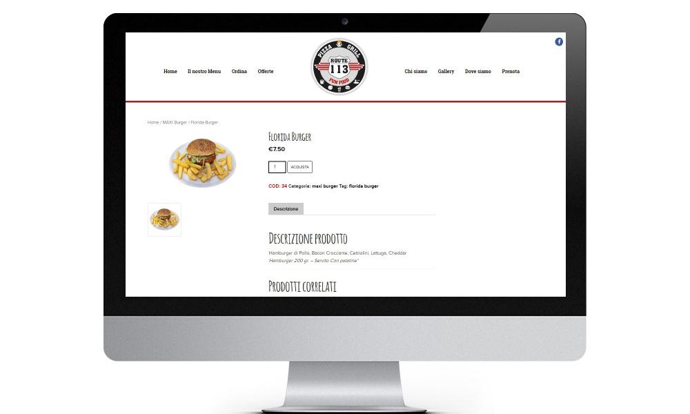 sito web route113 Pizza & Grill