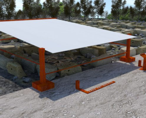 render sito archeologico valle dei templi